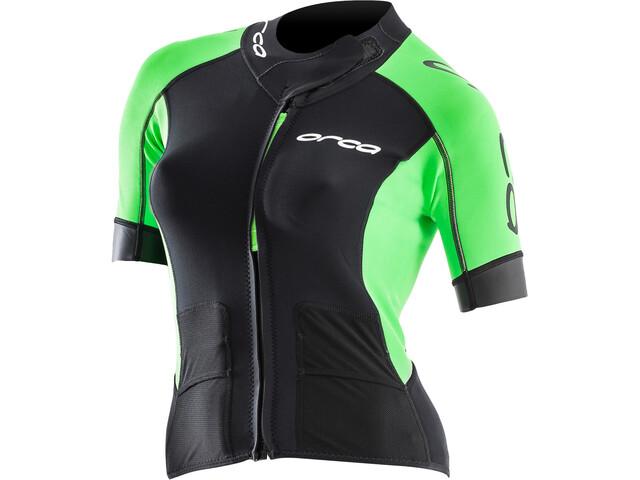 ORCA Swimrun Core T-shirt zippé Femme, black